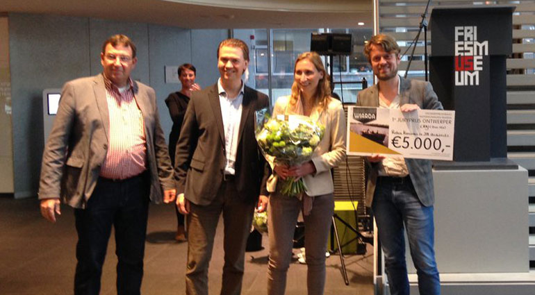 First Prize (Jury Prize) – Competition Floating houses Wiarda Gemeente Leeuwarden, 2014