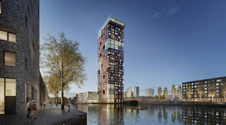 Honourable Mention – Open oproep voor bouwen op elkaar' for stacked pricate houses in The Hague.