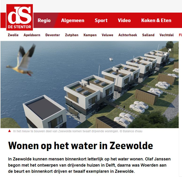 Floating Houses in Zeewolde in the local news