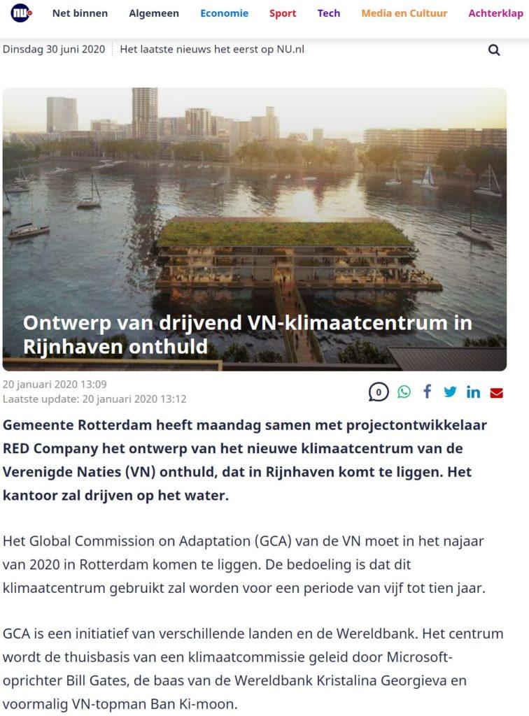 Ontwerp drijvend VN Klimaatcentrum onthuld