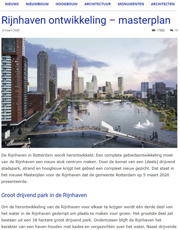 Rijnhaven in development
